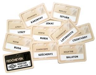 Fedőnevek: kártyák magyar hírességekkel