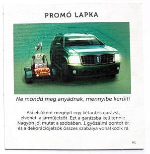 Álomház: Autós promo lapka