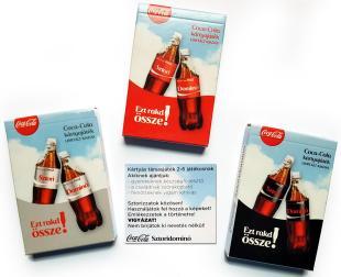 Coca Cola Sztori domino: 3 db-os kártyacsomag szett